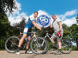 Scottish cyclist Mark Beaumont, left, and Derick Murray from Nestrans are ready for the GoNorthEast Road Festival