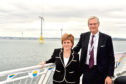 First Minister Nicola Sturgeon with president and chief executive officer at Vattenfall, Magnus Hall.
