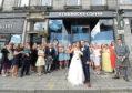 Joanne MacDonald and Jonathan Craig after their Starbucks Wedding