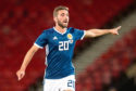 Graeme Shinnie in action for Scotland on Friday.