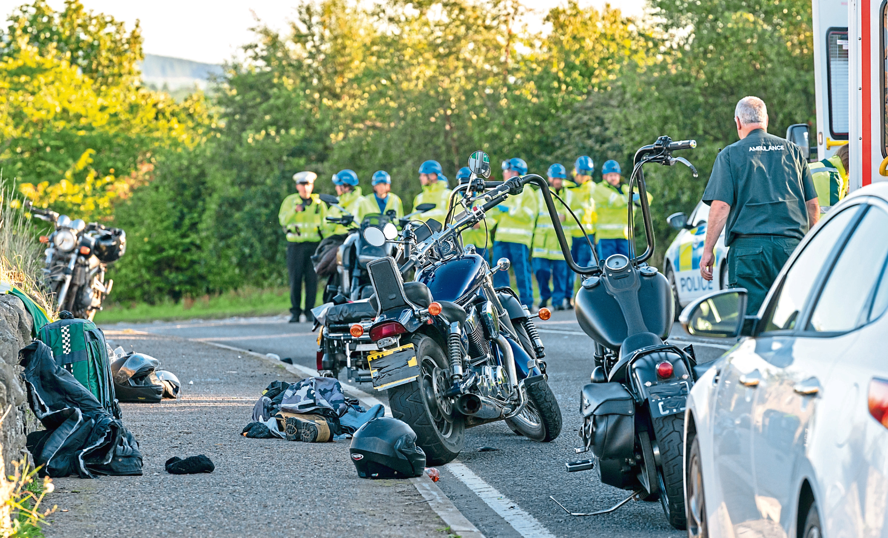 The scene of the crash on the A98