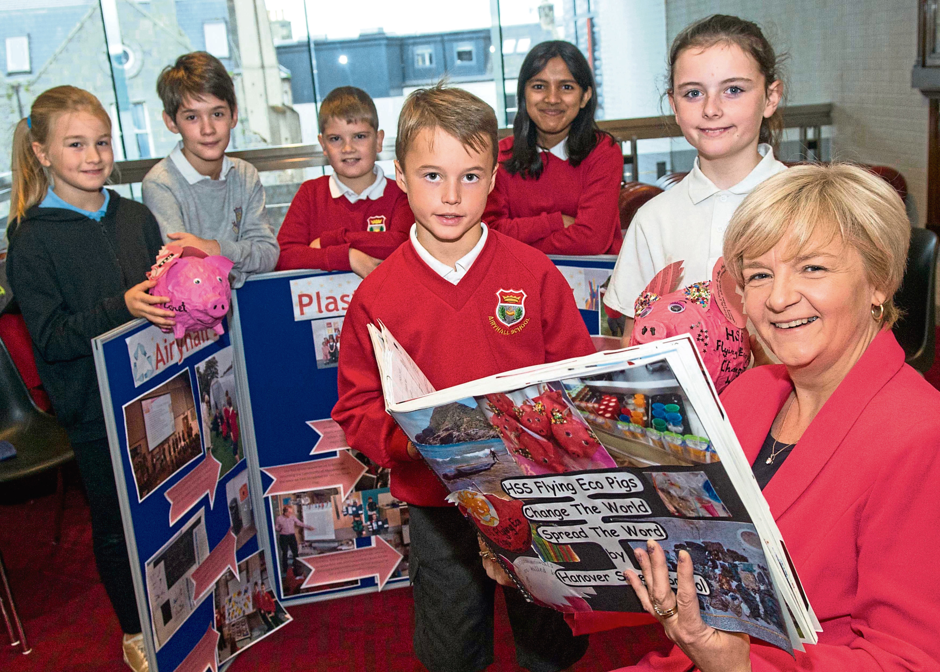 Airyhall Primary school and Hanover street school have been working on projects to show how using paper, recyclable straws is better than using plastic straws.