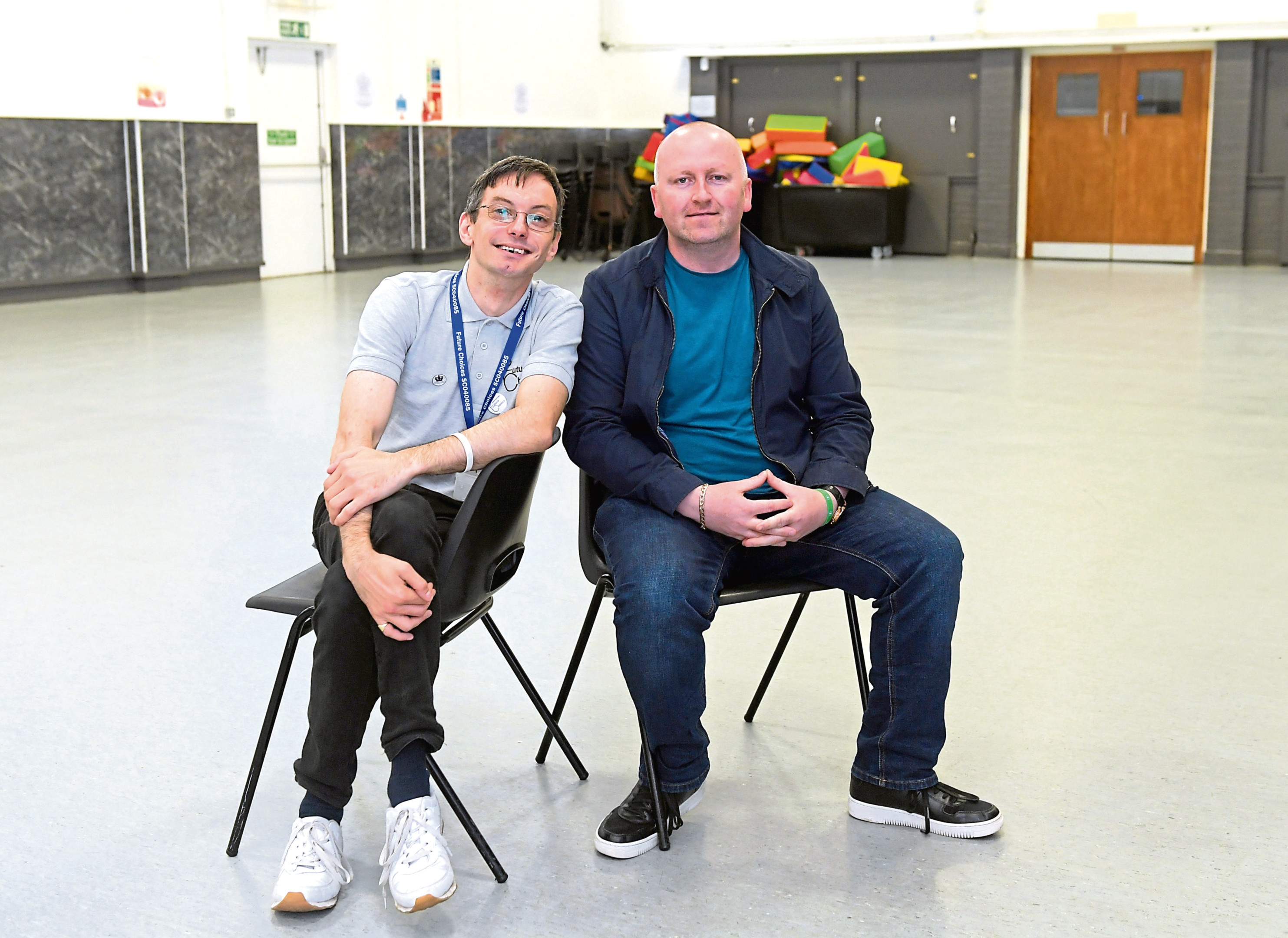 David Forbes and Paul O'Connor at Inchgarth Community Centre