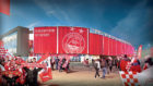 An artist's impression of Kingsford stadium