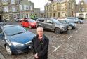 Councillor Brian Topping at Saltoun Square car park in Fraserburgh