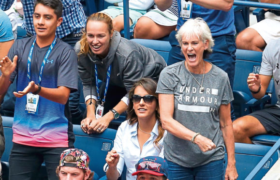 Judy Murray will visit the Garioch Sports Centre on Monday
