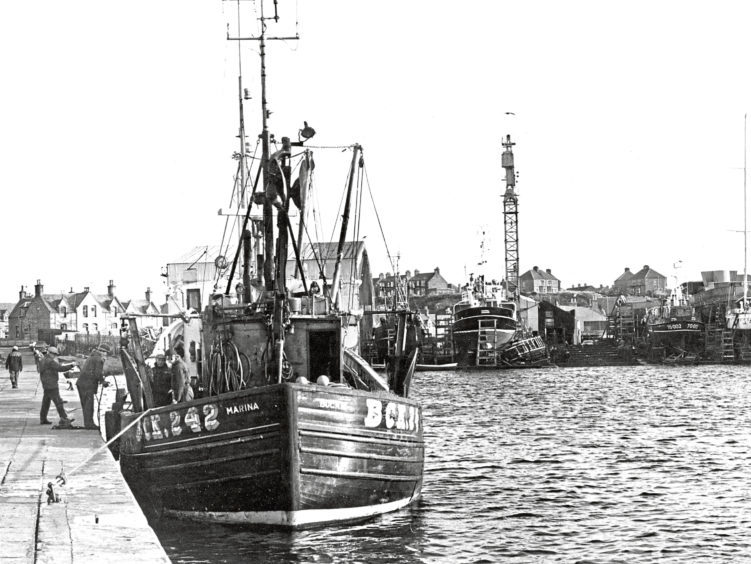 1977: Our picture shows the fishing boat Marina   Rosemount