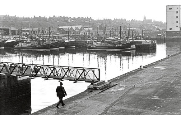1971: A general view of the busy harbour