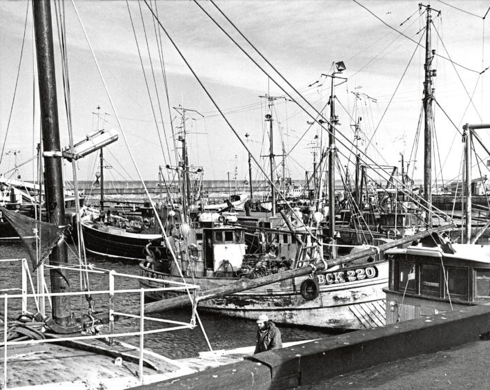 1975: Buckie was one of the busiest ports on the Moray Firth coast