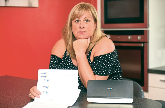 Jill and her family have had their landline and internet disconnected for over a month