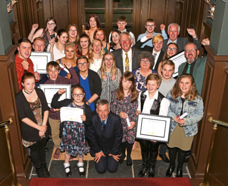 Young people from the care system were honoured at an awards ceremony at Thainstone House Hotel in Inverurie