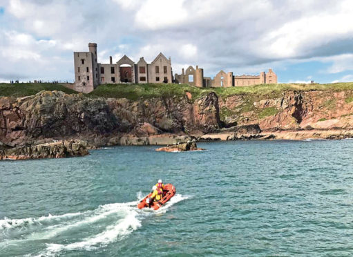 Both coastguard and lifeboat teams from Cruden Bay and Peterhead attended the scene