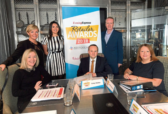 The Evening Express Retailer Awards judging panel