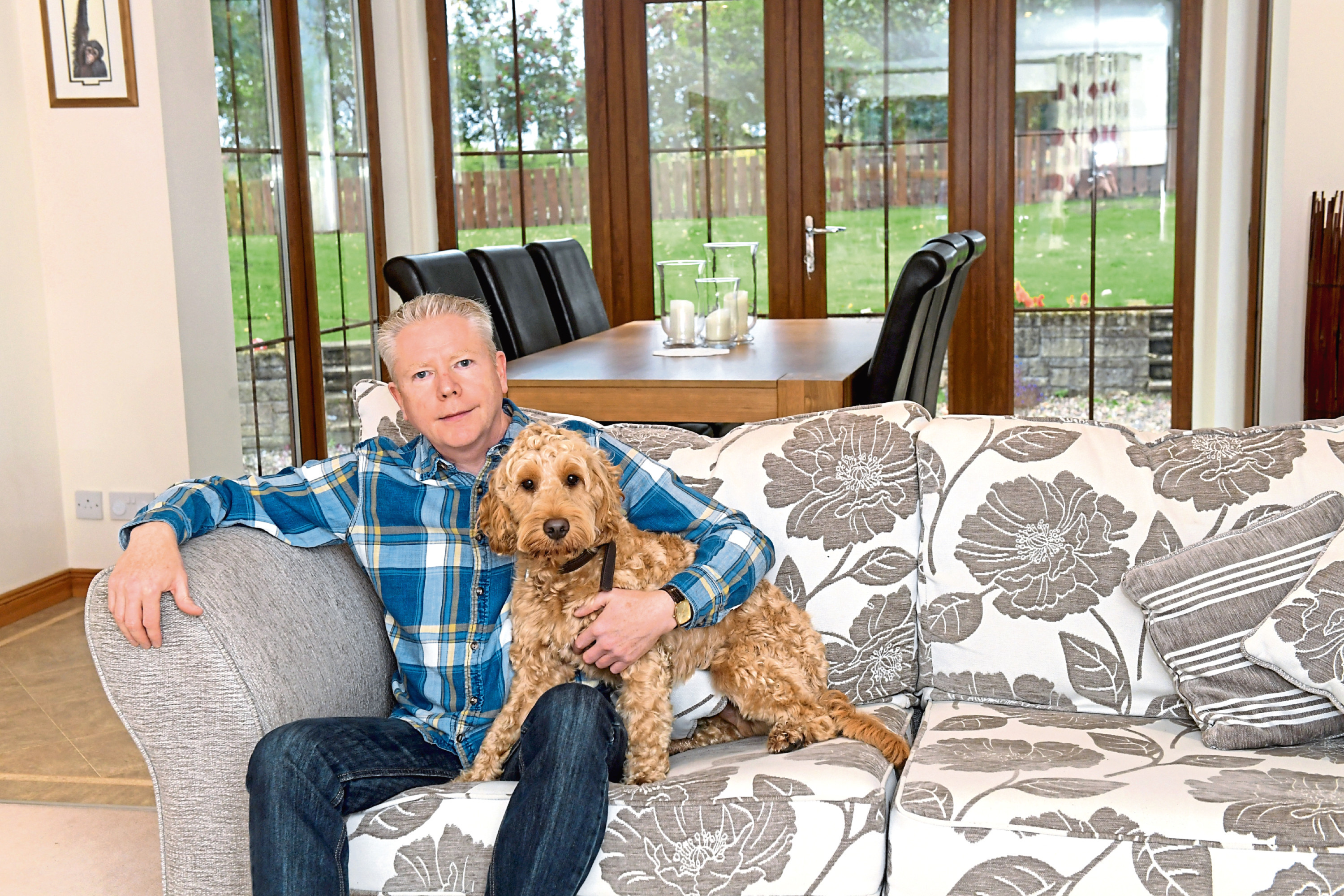 Ronnie Lees with his dog Chester