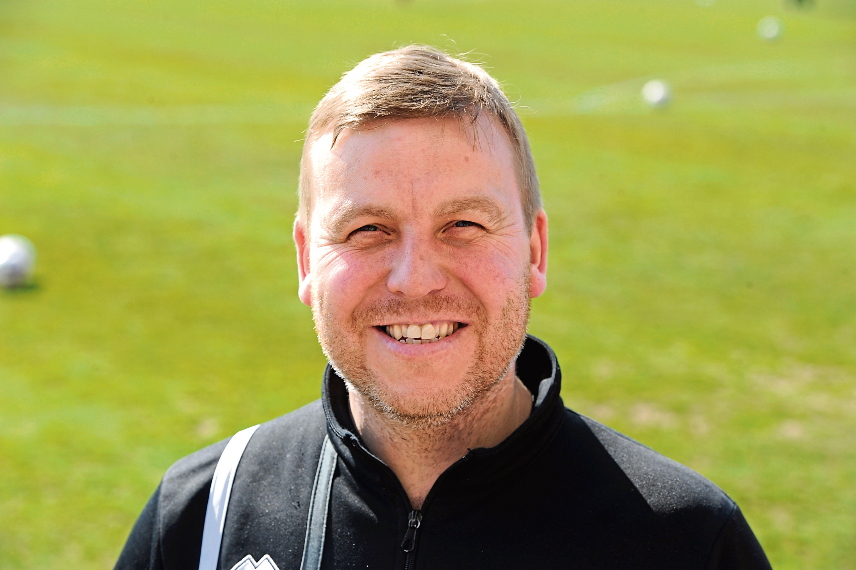 Turriff United manager Kris Hunter