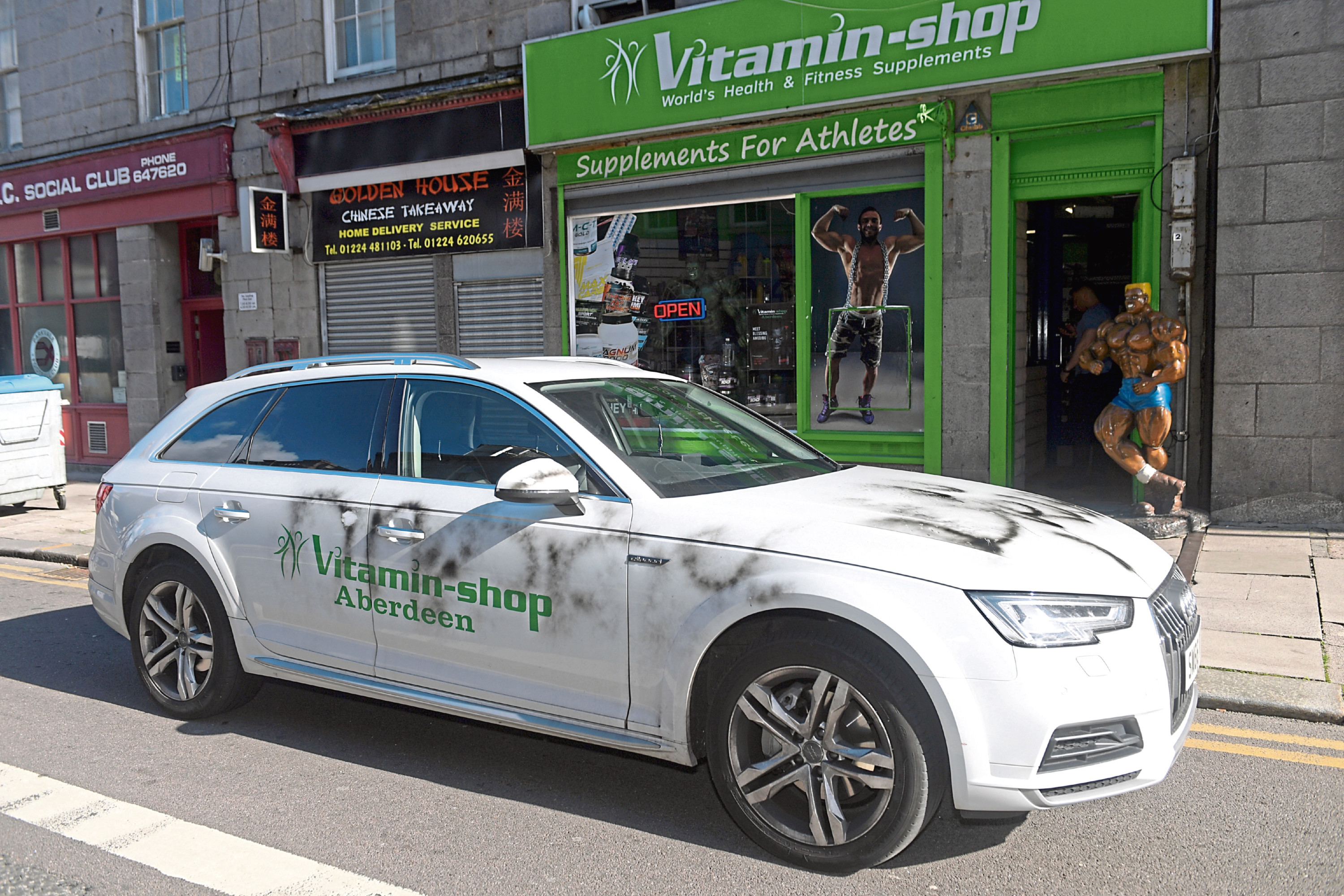 Peter Ruparewicz, who runs The Vitamin Shop on King Street, had one of his cars spray painted over the weekend