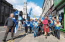 A rally in favour of a second indyref at the Castlegate
