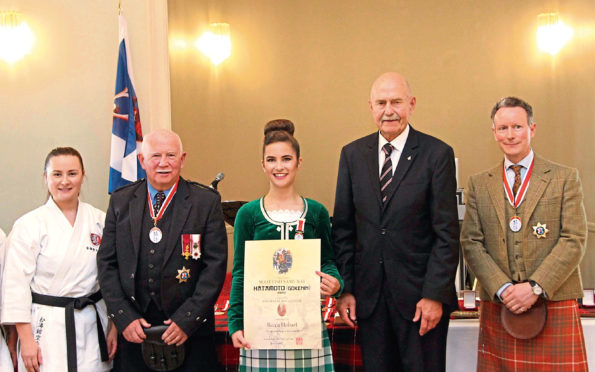 The Order of Scottish Samuari was handed out to award winners during a ceremony at Maryculter Hotel