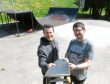 The Banchory Skatepark Group are hoping to make the skateboard park in Banchory bigger and are seeing the Marr area committee to help with the project. Pictured are Russ Crichton, left chairman of the group and Bruce Skinner a committee member Pic by Chris Sumner 19/5/18
