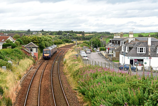 A stretch of the line near Newtonhill