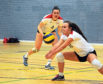 Members of the Aberdeen Volleyball group in action