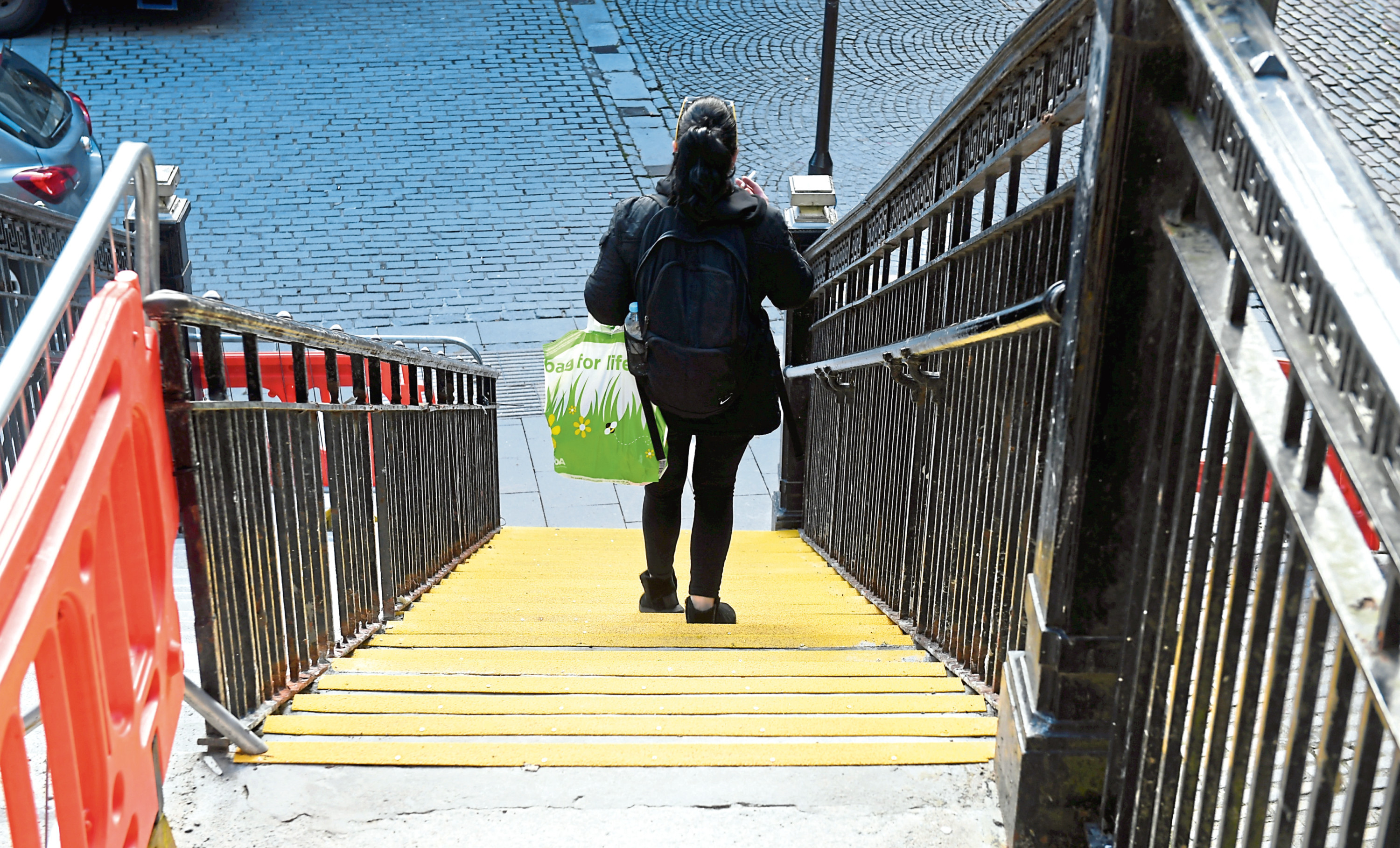 The council upgrade of the Back Wynd steps from Union Street nears completion