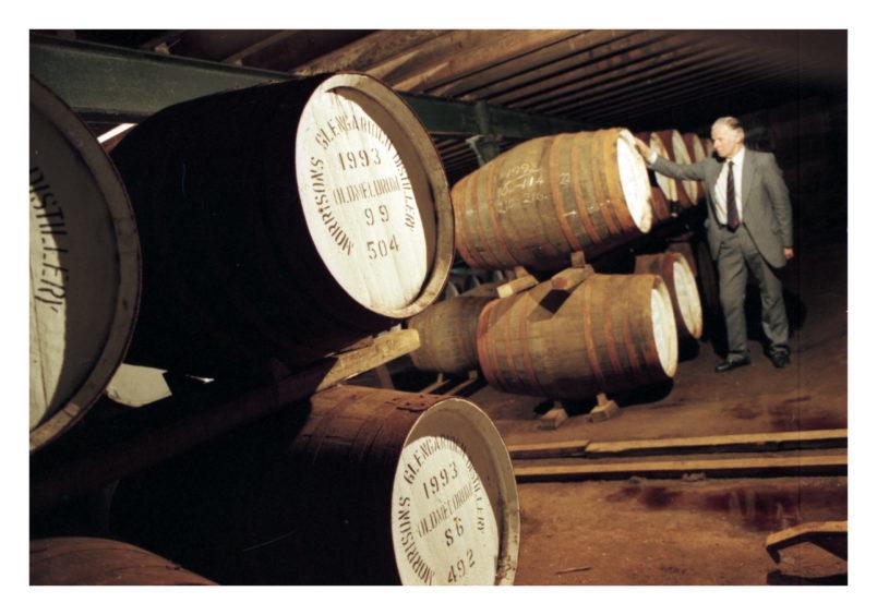 1995: Distillery manager Ian Fyfe checks out the Glen Garioch Malt