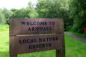 Arnhall Moss Nature Reserve in Westhill