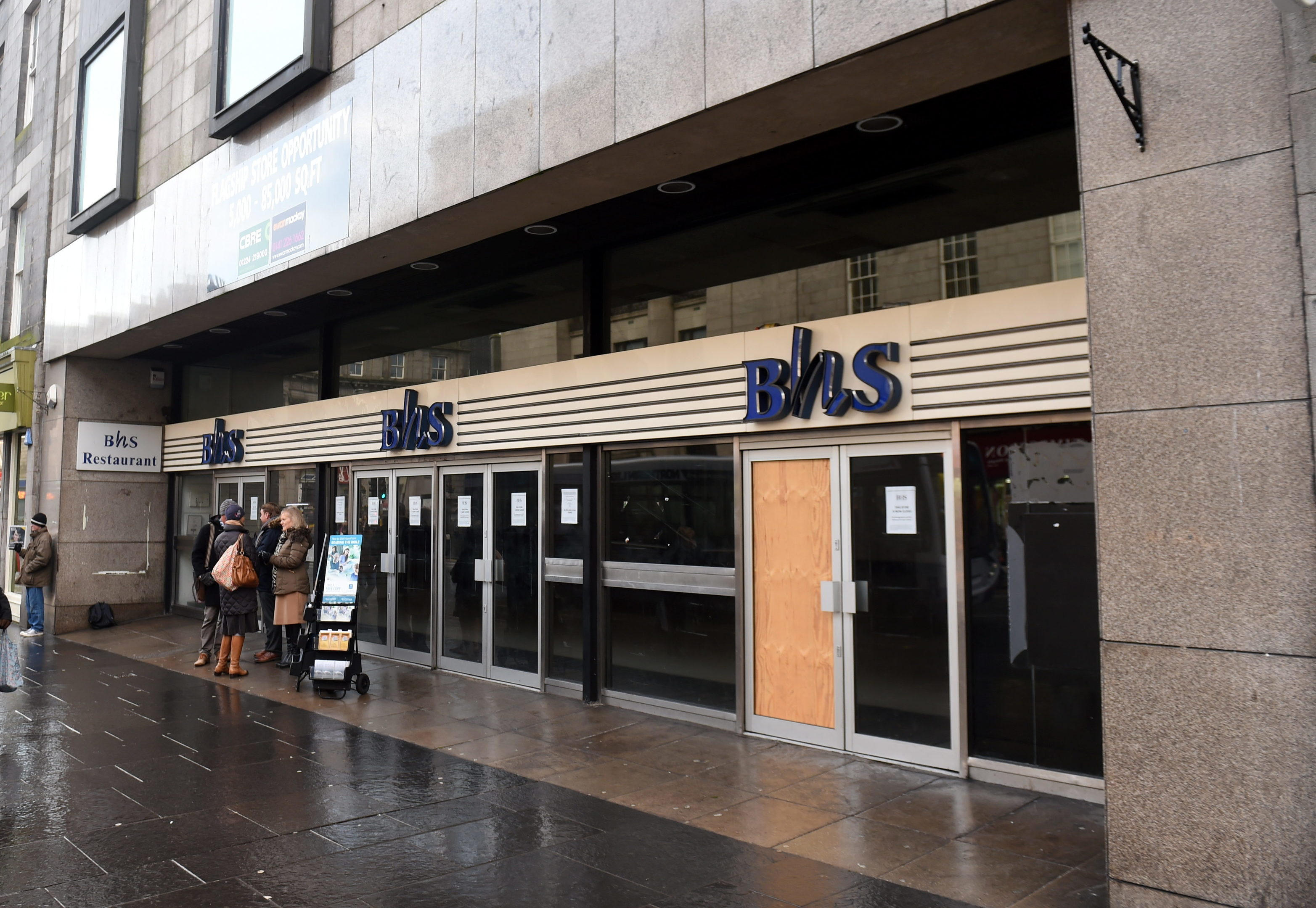The former BHS store on Aberdeen's Union Street