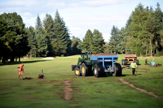 Some of the work which was carried out on the MacKenzie Championship Course at Hazlehead. Picture by Heather Fowlie