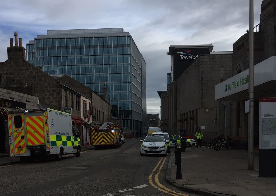 Emergency services were called to an incident on Justice Mill Lane