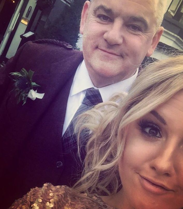 Kevin Stewart with daughter Amy