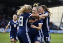 Scotland's Kim Little celebrates with her team-mates.