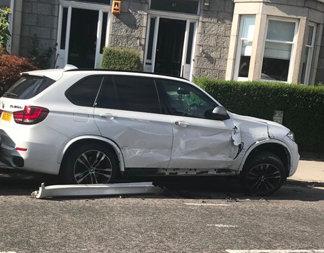 The car was damaged on Ashley Road