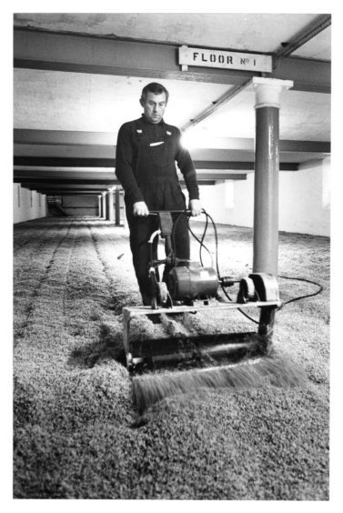 1979: Malt is turned during its germination by Henry Strachan