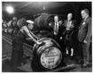 1985: Warehouseman James Alexander pushes the first barrel since the change to natural gas at Glen Garioch Distillery at Oldmeldrum