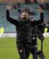 Aberdeen manager Derek McInnes celebrates at full-time.