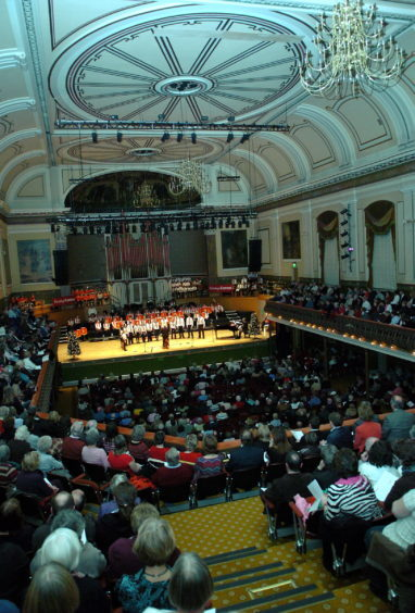 2008: Aberdeen Youth Brass Band perform at the Evening Express annual carol concert