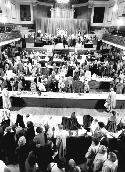 1990: A host of items are on display at the Scottish Women's Rural Institute 60th anniversary show at the Music Hall