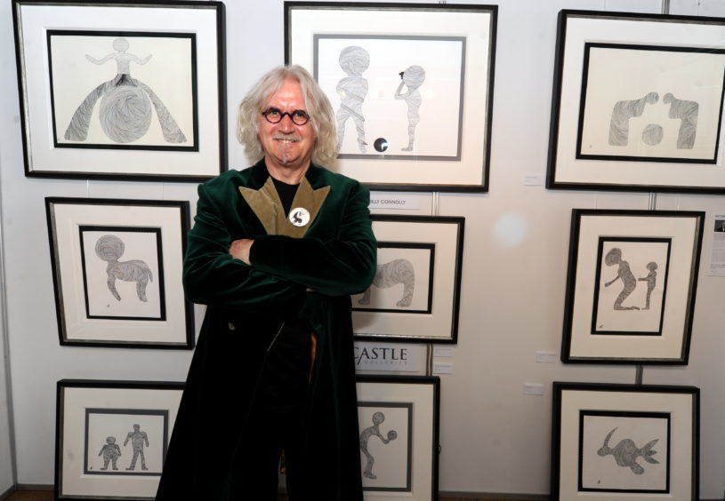 2012: An exhibition of art from Billy Connolly at the Music Hall as part of the Aberdeen Art Fair