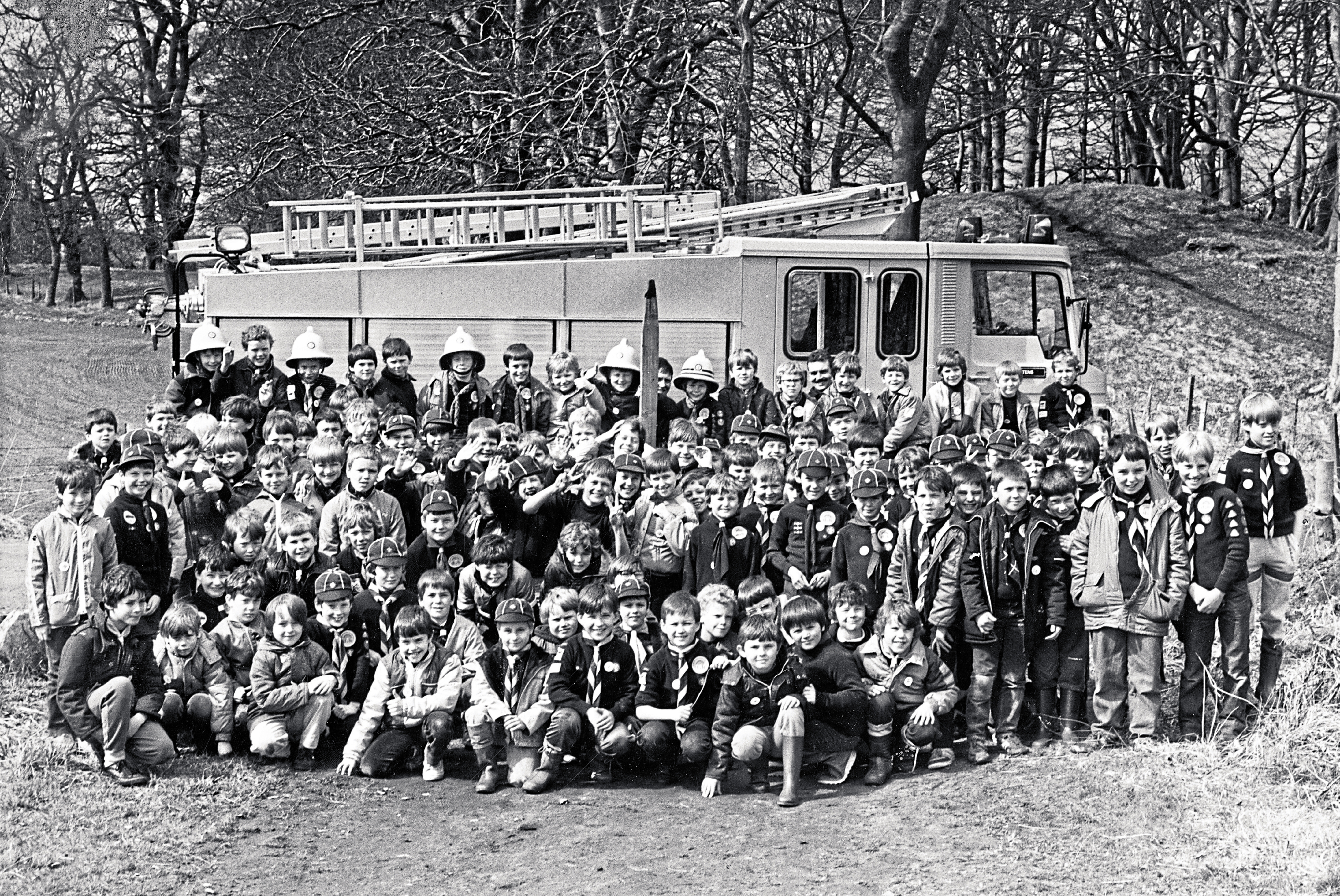 1986: Gordon area Cubs met at Templar's Park, Maryculter, to mark the 70th birthday of the Cub Scout movement