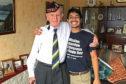 Rishi Sharma with veteran James Glennie