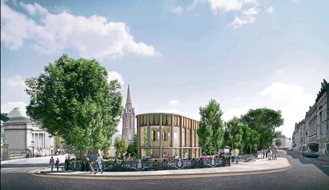 An artist's impression of new designs for Union Terrace Gardens