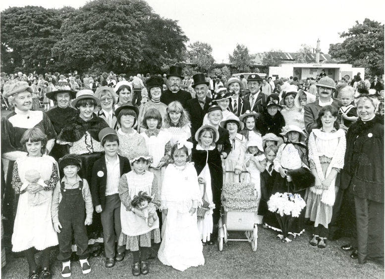 1981: Members of the Ferryhill community at their Duthie Park Gala day in Victorian costume