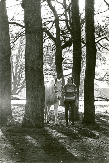 1989: Susan Gilbert in Duthie Park with one of Aberdeen District Council's horses