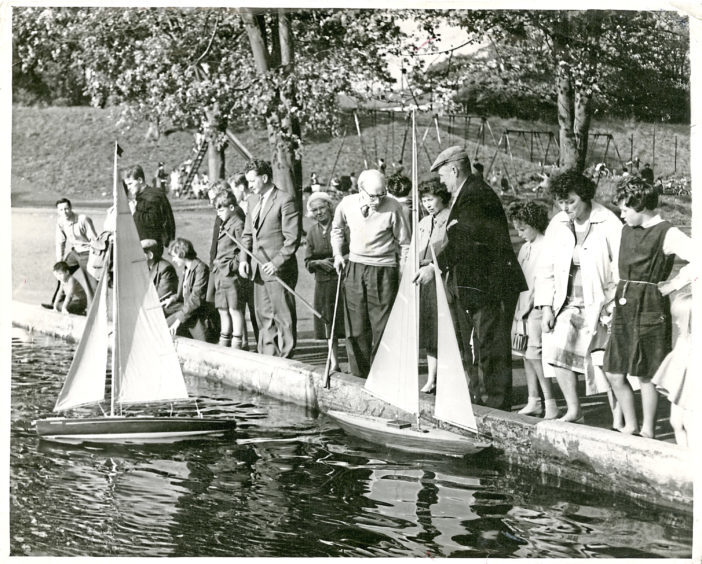 1963: Adults seem to be muscling in on boating fun at Duthie Park in September 1963