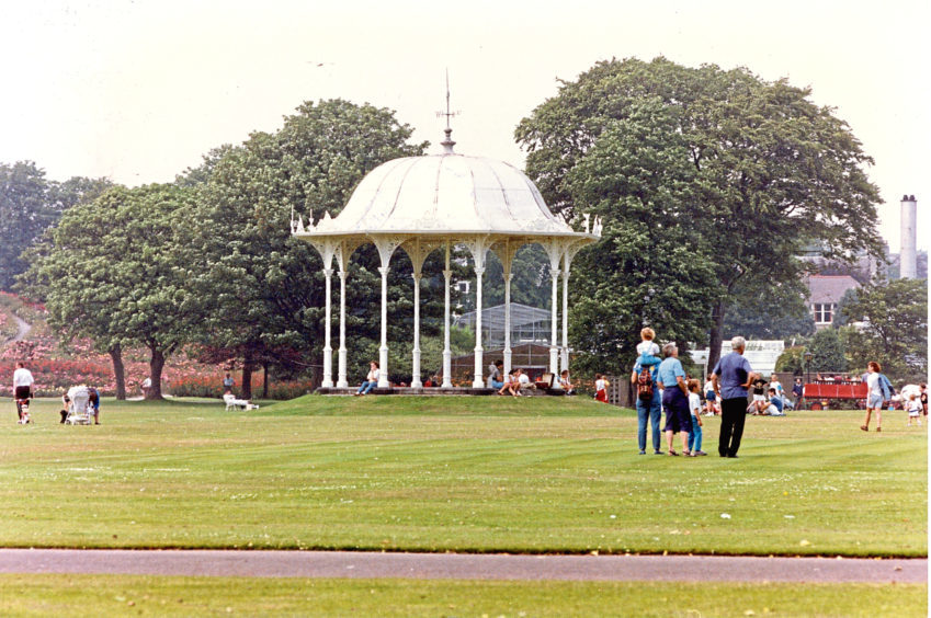 1990: The bandstand at Duthie Park, pictured here in 1990, remains a well photographed landmark in the Ferryhill