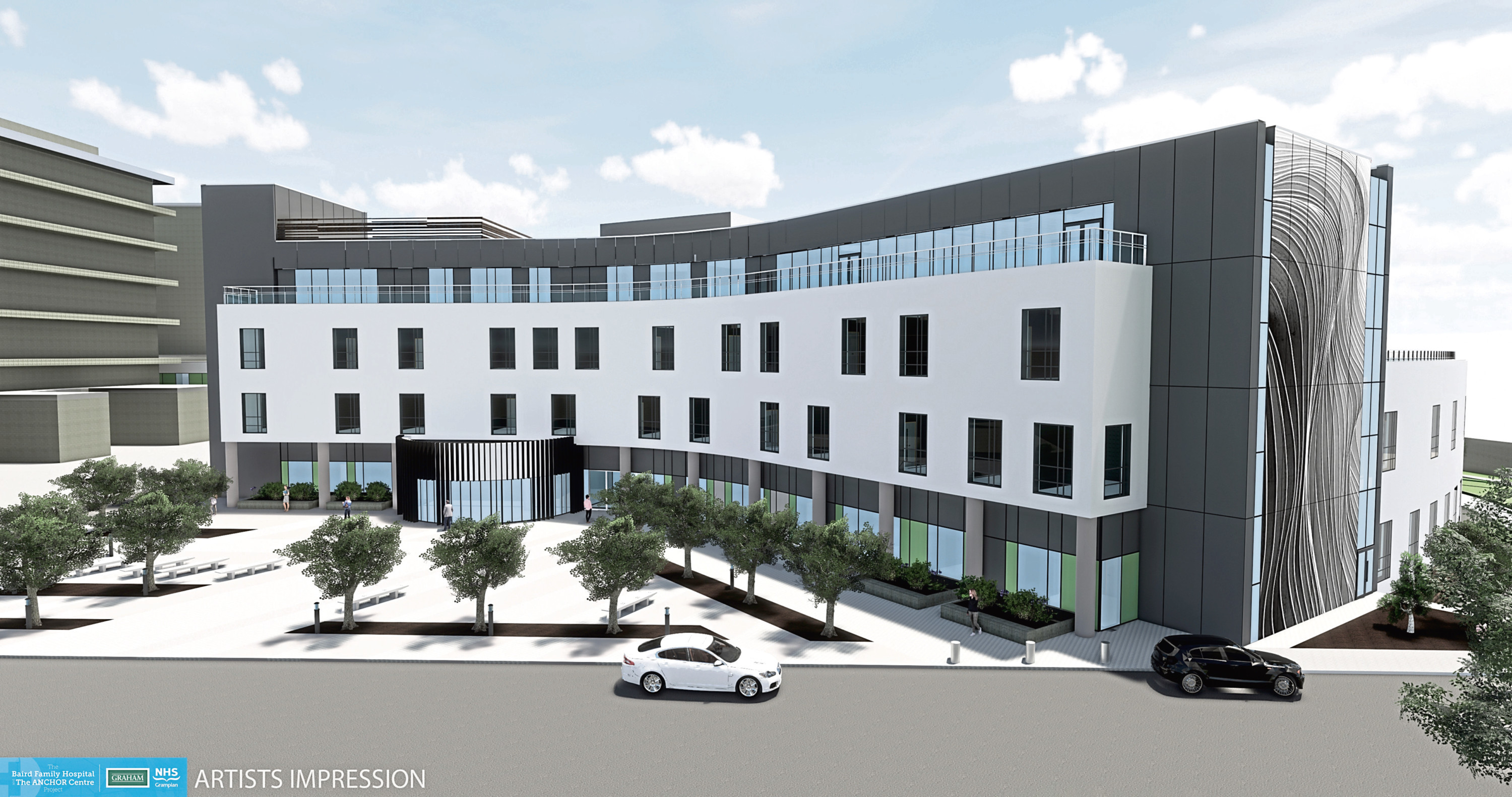 An artist's impression of the new Baird Family Hospital