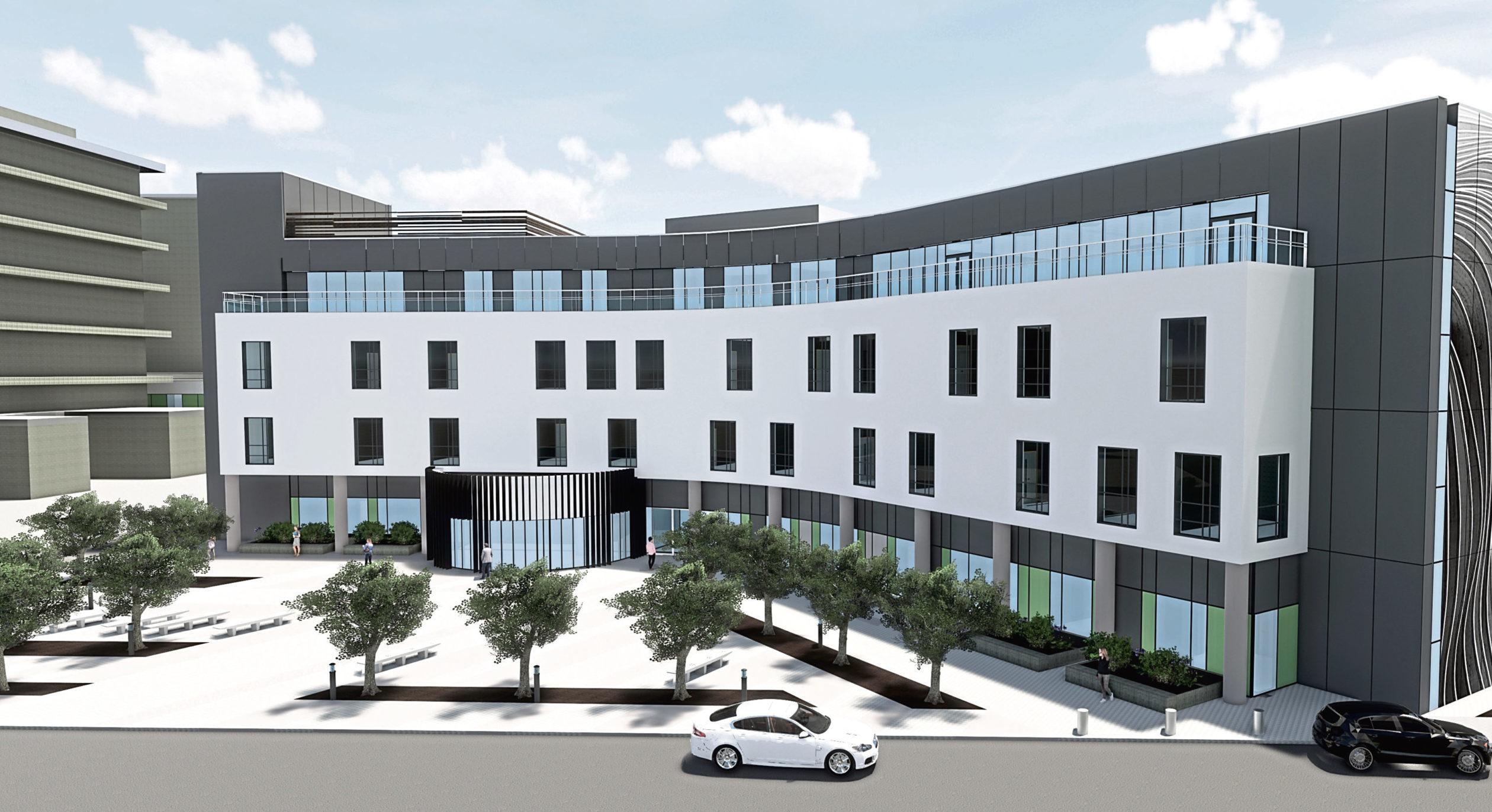 An artist's impression of the new £163 million Baird Family Hospital