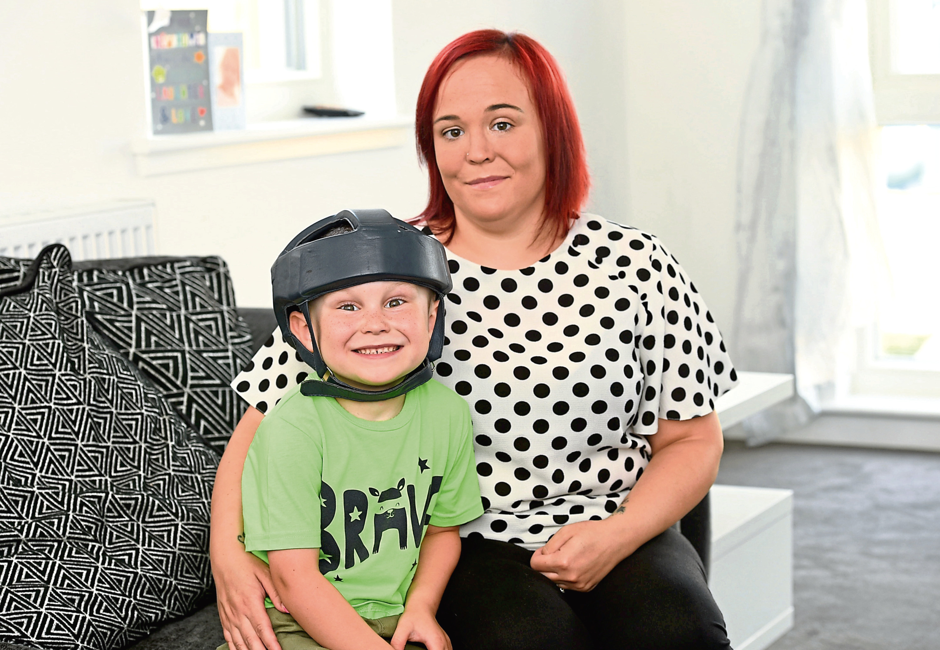 Kyle Judge, 5 with his mum Claire Hadden.